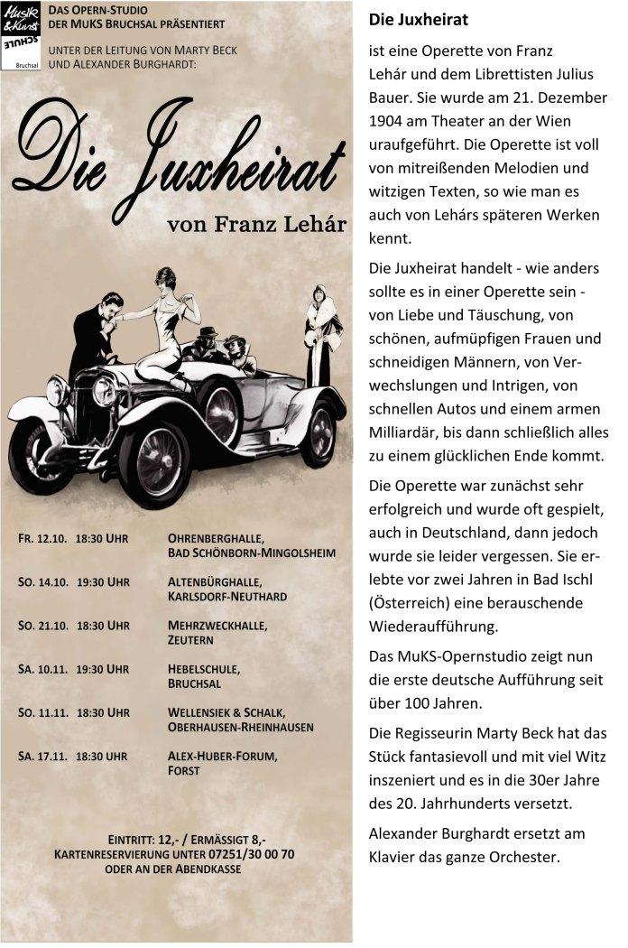 Plakat mit Text Bernhard